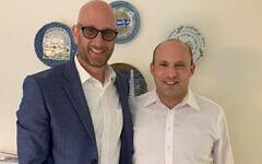 Political consultant George Birnbaum with Israel Prime Minister Naftali Bennett.