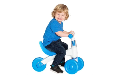 Eezy Peezy My Fun Trike for tikes is a great first bike available at Learning Express in Buckhead.