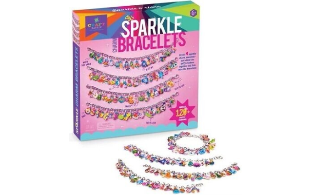 Do It Yourself Charm Bracelet Kit for jewelry making keeps kids creating and having fun.