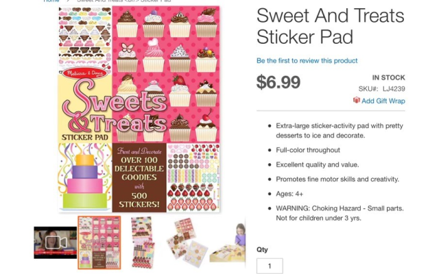 Melissa & Doug has a wonderful selection of sticker pad fun activities for kids on the go.