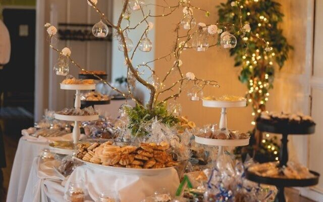 Tables were filled with desserts from Nothing Bundt Cakes and homemade baked goods.