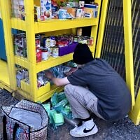 Photo by Lorrie King // The class chose to donate to Free99Fridge, community mutual aid pantries.