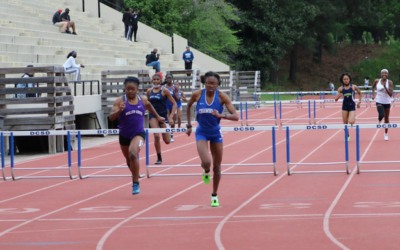 Ariel Raggs competes at the GHSA State Track & Field Championships in Carrollton.
