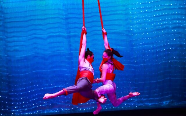 Photos by Portraits by Mary Ann Pegg // Emma Kremer uses fabric to swing in a duo act.