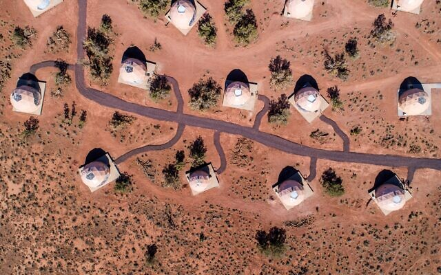 A drone shot shows the big expanse of Grand Canyon domes.