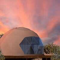 Guests can marvel at the pink sky in a Grand Canyon dome.