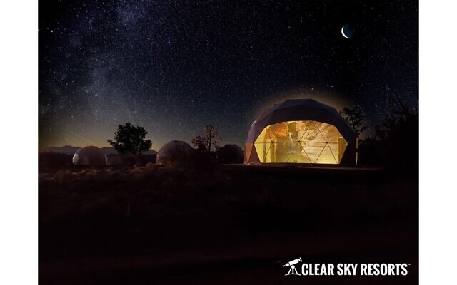 The wonder of the night sky from a guest dome in Grand Canyon.