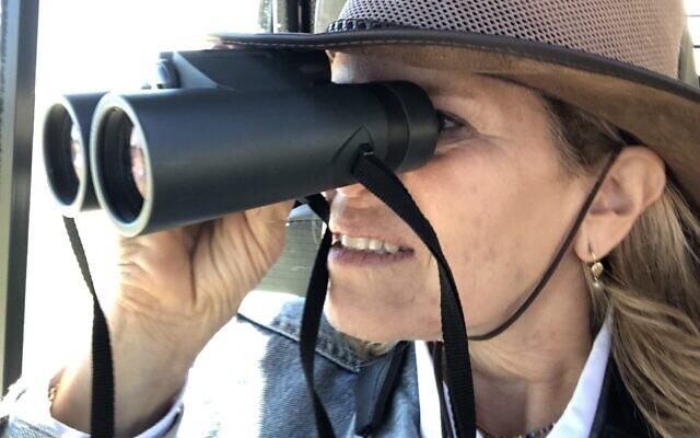 Alli Allen tracks elephants in Namibia.