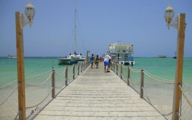 On the Schwartz' honeymoon to-do list is a boat trip in the Dominican Republic.