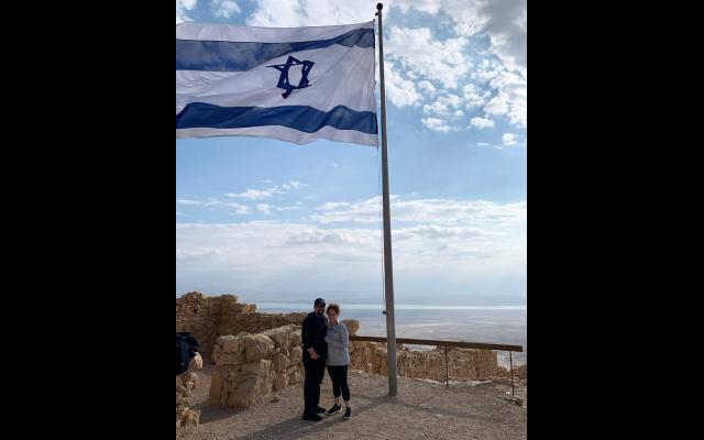 Corey and Hilary Sloane on their HMI trip in Israel last year.