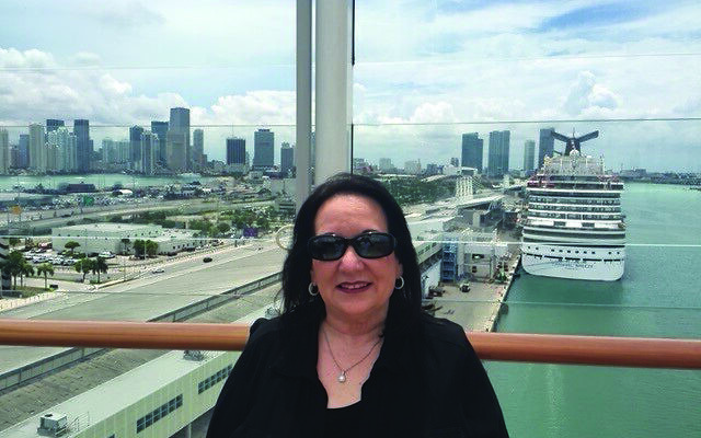 Varda Cheskis Sauer leaves the Miami port on the Norwegian Getaway to Western Caribbean.