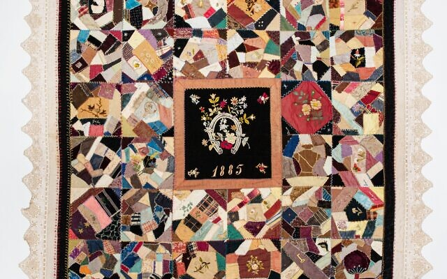 This Victorian community quilt from 1885 was made by the Jewish Ladies' Sewing Circle in Mississippi.