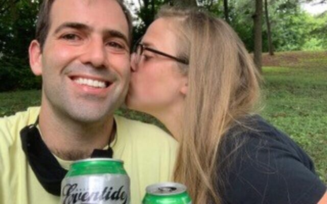 The day after their 2020 wedding, Valerie Kulbersh and Benjamin Myers had a picnic at a park.