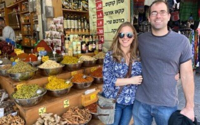 Visiting Valerie Kulbersh's family in Israel was the couple's first big trip in 2019.