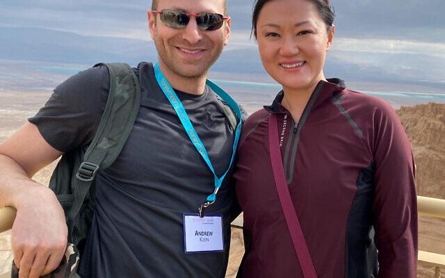 Photo courtesy of Honeymoon Israel// Atlanta residents Lucy and Andrew Klein traveled with Honeymoon Israel last year.