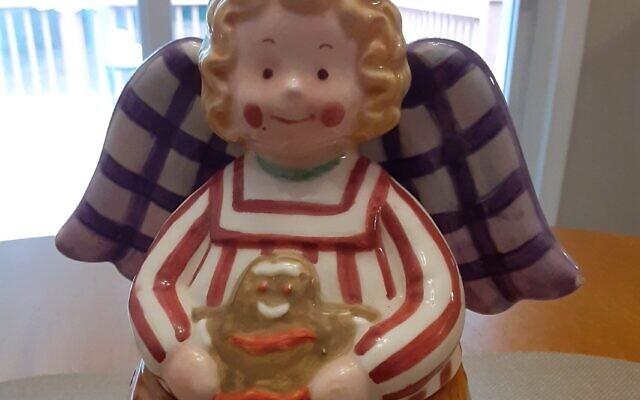 An angelic cookie jar presides in Euchman's kitchen.