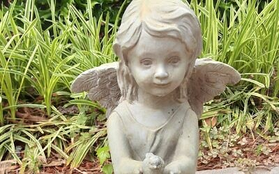 Euchman's favorite angel is a gift from a friend.