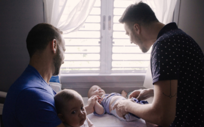 The film looks at how the two gay male parents confront the challenges of a twin birth.