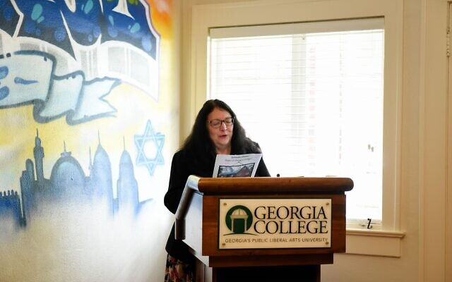 Karen Berman of Georgia College Hillel honored for being a long-time faculty advisor.