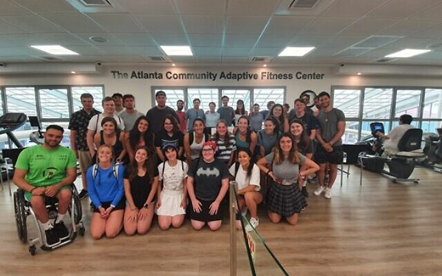 Students visit the Atlanta Community Adaptive Fitness Center in Ramat Gan, named for Atlantans' generous support of the center.