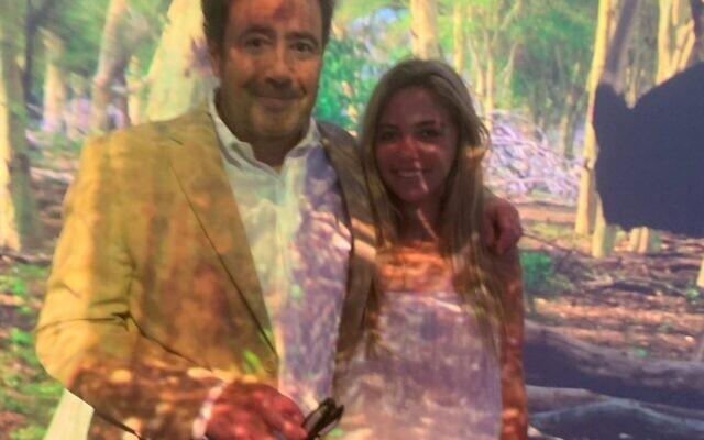 "PR guru Joel Babbitt and daughter Brooke ""dug the scene."""