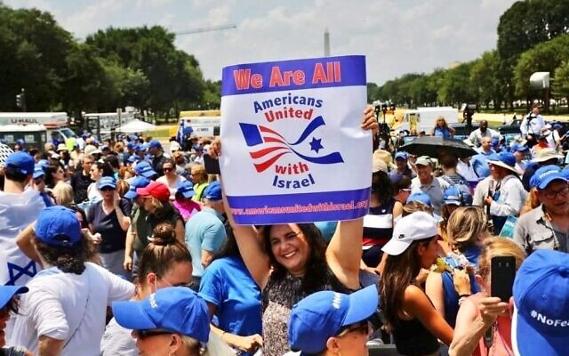 Cheryl Dorchinsky holds up a sign during the No Fear Rally in Washington, D.C.