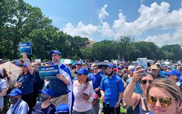 """Thousands participated in """"No Fear Rally"""" in front of the Capitol."""