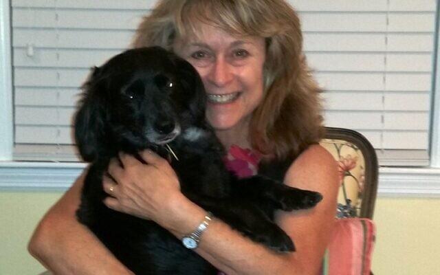 Debra Berger with her dog Sadie.