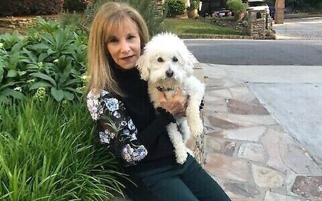 Judy Landey with her dog Leo