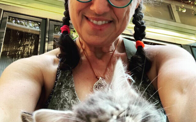 Sarah Rosenberg with two foster kittens.