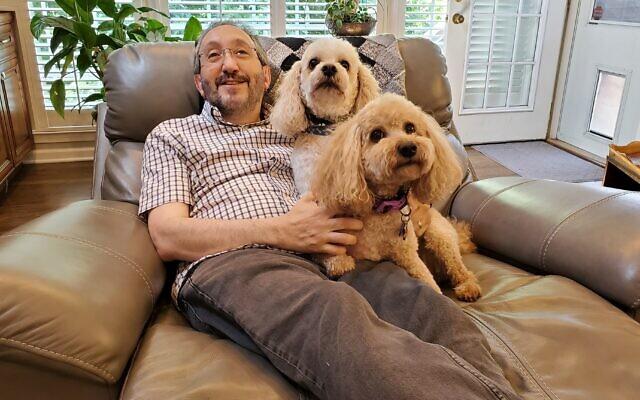 Rabbi Mark Zimmerman, Rafi and Coco.