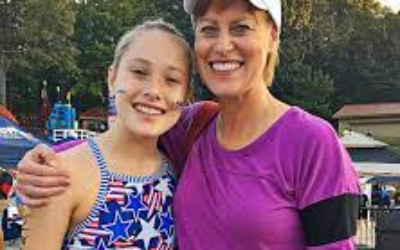 Grace Bunke and her mother Vicki, who is Swimming Across America in her daughter's honor.