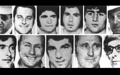 The 11 Israeli Munich Olympics victims.