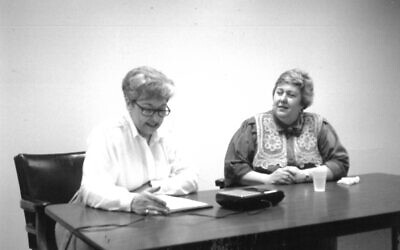 Ann Schoenberg interviewed Sherry Frank in 1993. (Courtesy of Sherry Frank)