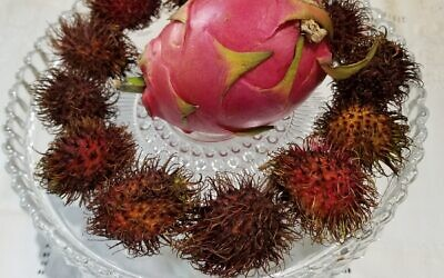 Photo by Flora Rosefsky // Rambutan and dragon fruit are exotic new fruits.