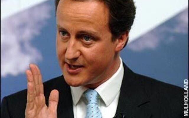 Prime Minister David Cameron, whose ancestors were stalwarts in London's Jewish community.