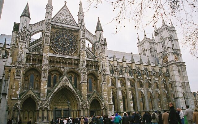 Westminster Abbey was built in 1245, thanks to wealthy Jews.