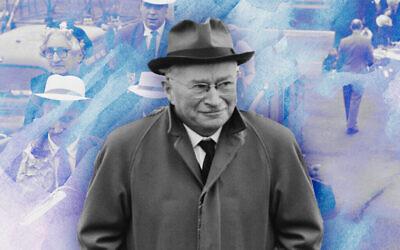 Ludwig Guttmann (Design by Emily Burack; photo via Keystone/Hulton Archive/Getty Images via JTA)