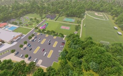 Rendering of the Bunzl Sports Fields and Leven Field.