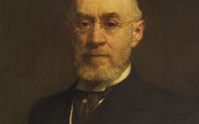 Isidor Straus, owner of Macy's, died when the Titanic sank. This portrait was painted in 1912. (Courtesy of The Breman Museum)
