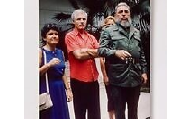 Atlantan Gail Evans began working at CNN at its inception in 1980 and was named executive vice president of Domestic News Networks in 1994. In 1989, Evans joined Ted Turner and Fidel Castro in Havana, Cuba. (Courtesy of The Breman Museum)