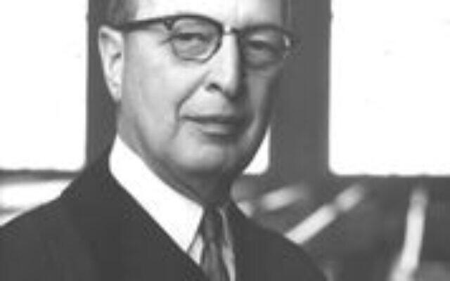 Rabbi Jacob M. Rothchild denounced segregation in a sermon as early as 1947. Photograph circa 1967. (Courtesy of The Breman Museum)