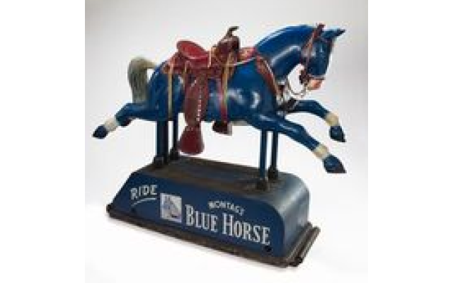Sigmund Montag (1865-1948) and his brothers manufactured the ubiquitous — and collectible — Blue Horse brand of stationary in Atlanta. (Courtesy of The Breman Museum)