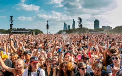Festival-goers attend day three of Lollapalooza at Grant Park on July 30 in Chicago, Illinois. // (Photo by Scott Legato/Getty Images)
