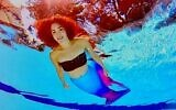 Rachel Shiffman performs at parties and corporate events as a graceful mermaid.