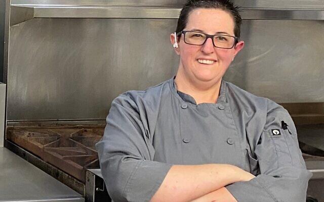 Jodie Sturgeon recently standing in a kitchen.