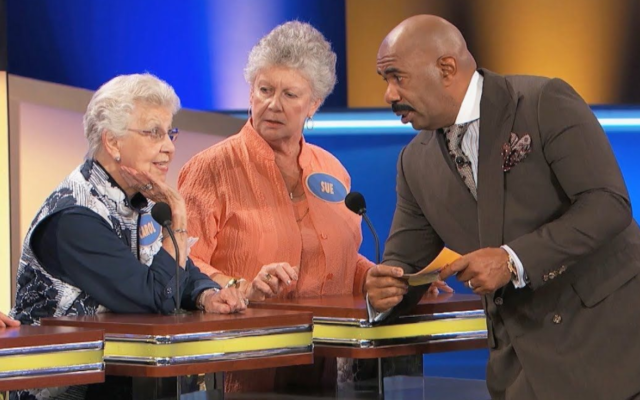 """""""Family Feud,"""" hosted by Steve Harvey, is a long-running series that is taped in Atlanta."""