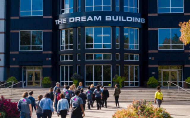 Headquarters of the 330-acre Tyler Perry Studios in South Atlanta is named The Dream Building.