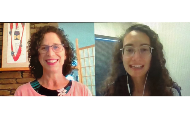 Dynamic duo, Nancy Gorod (L) HGA chesed chair, and Annie Fortnow (R) managing director, JumpSpark.