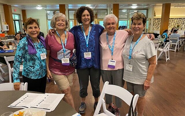 L to R: Beth Baker from West Palm Beach, Cynthia Berger (Dunwoody), Francine Weaver (Colorado), Arlene Appelrouth (Toco Hills), and Bobbi Perlstein (Dunwoody).